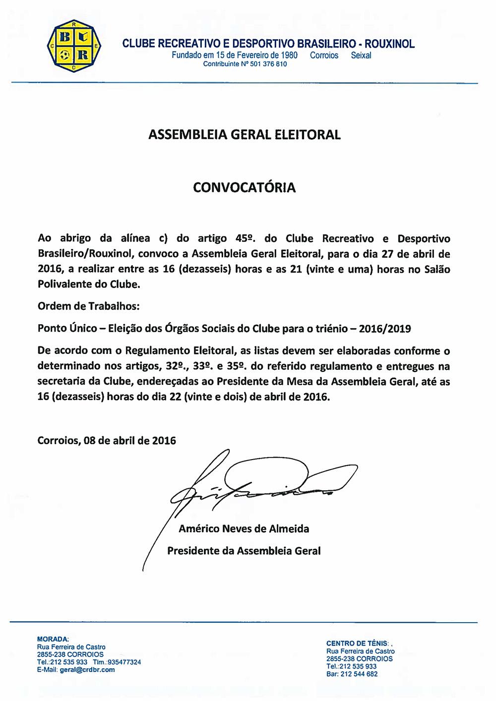 Convocatoria Ass_ Geral Eleitoral