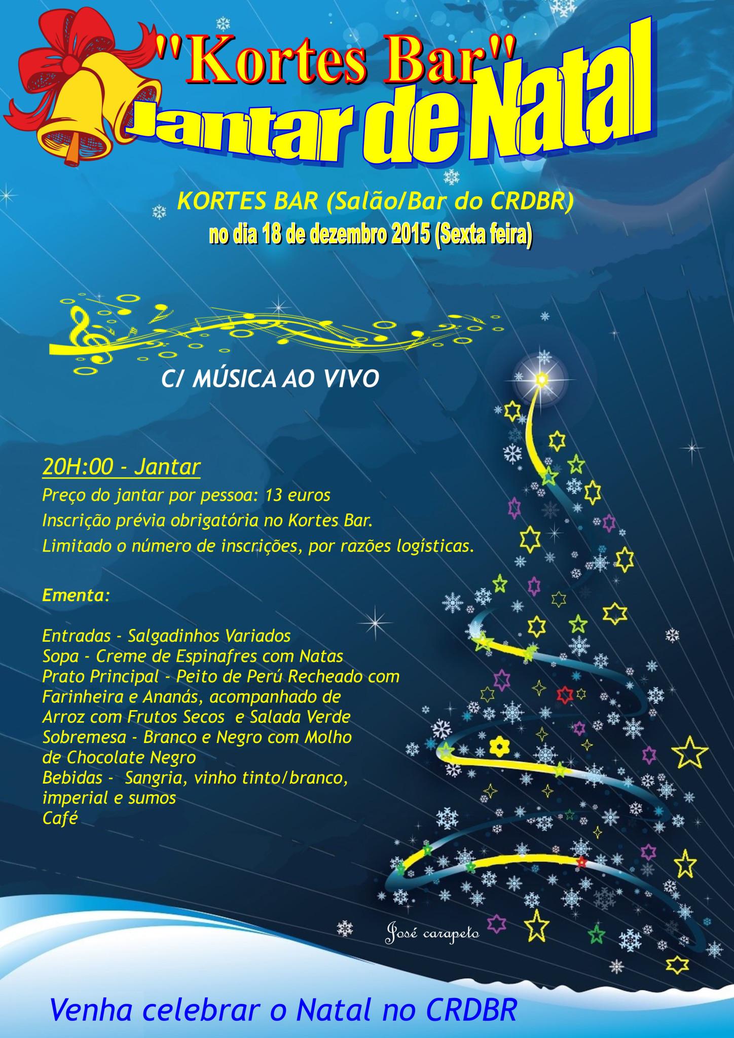 2015 - Jantar de Natal - Cartaz