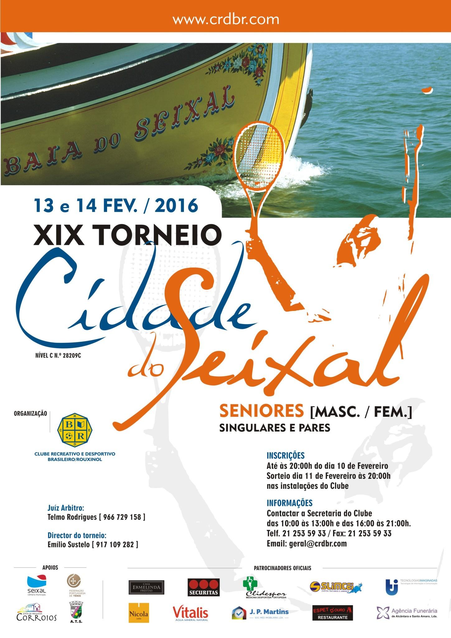 Cartaz Torneio Cidade do Seixal 2016 New
